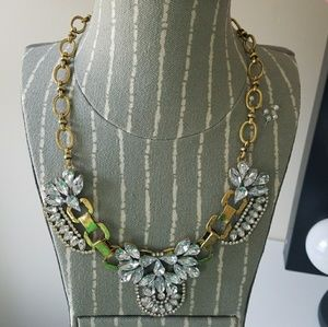 Gold & Clear Stone Statement Necklace